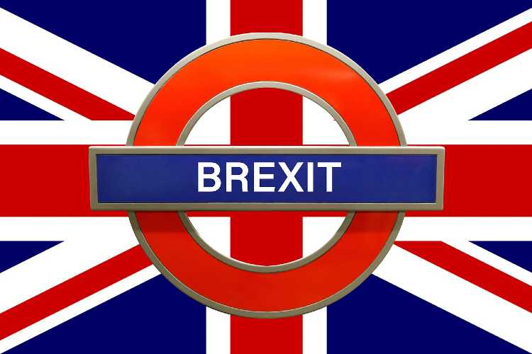 Brexit London Underground Sign