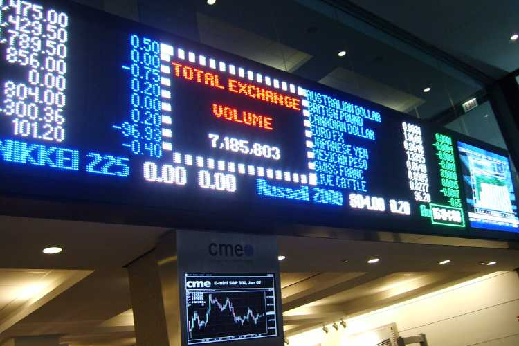 Chicago Mechantile Exchange Ticker Board